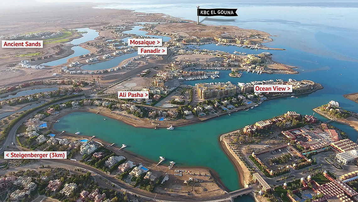 Hotel map El Gouna