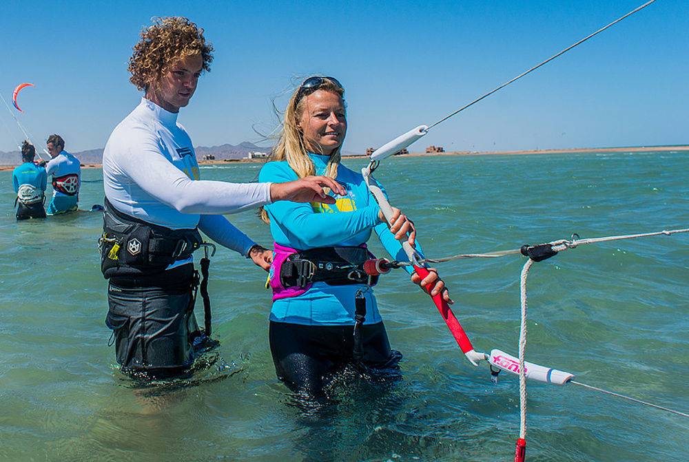 Kitesurf lessons at KBC El Gouna