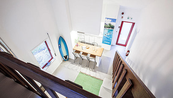 Wohnzimmer Surf Appartement in moledo in Portugal