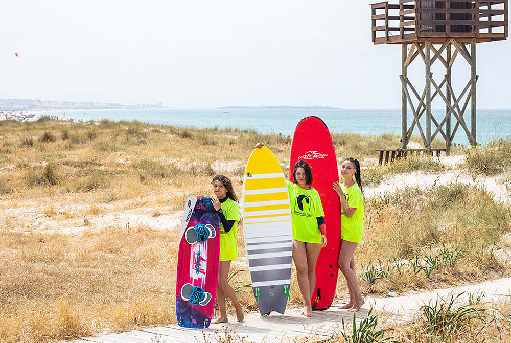 All board sports: surfing, kitesurfing, SUPing at KBC Tarifa