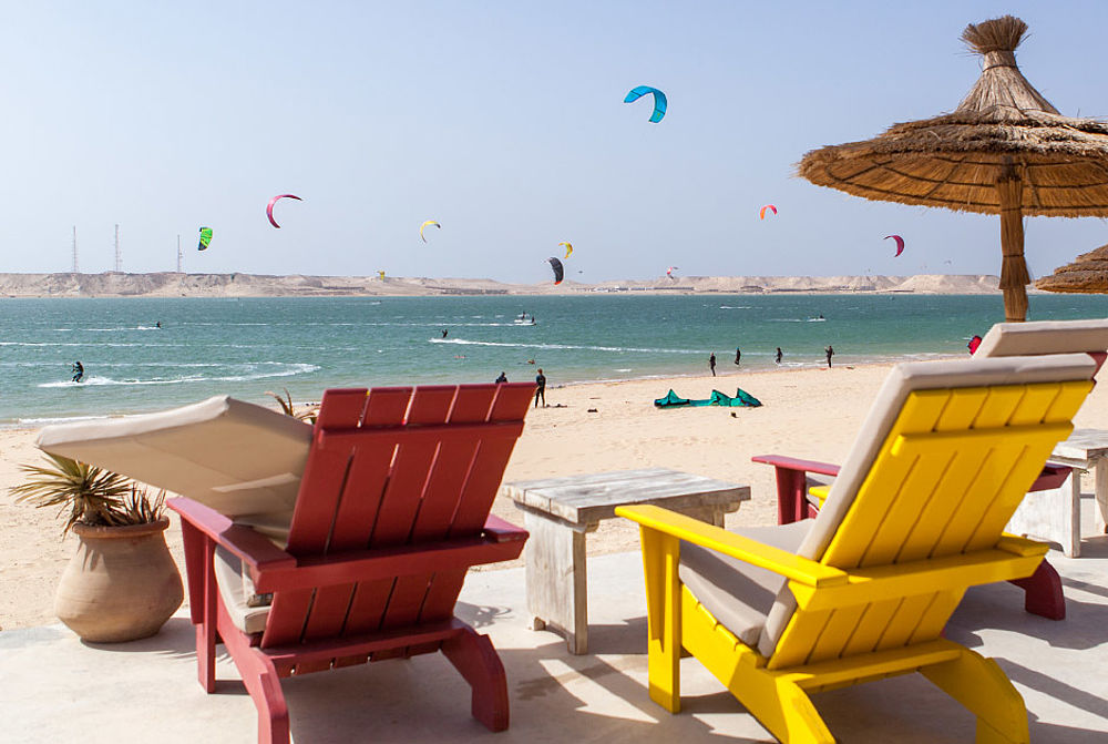 Sun chairs at KBC Dakhla