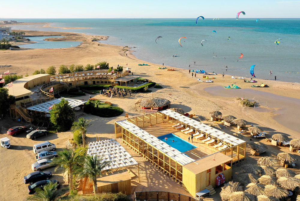 Kiteboarding Club El Gouna Kitestation mit Pool