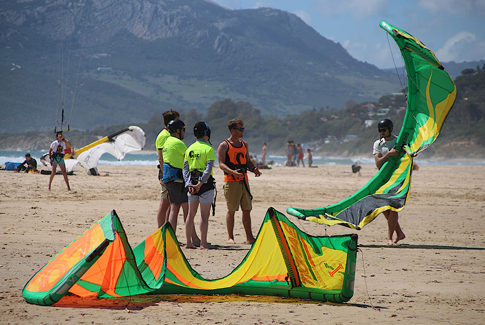 Kitesurf equipment rental at Kiteboarding Club Tarifa