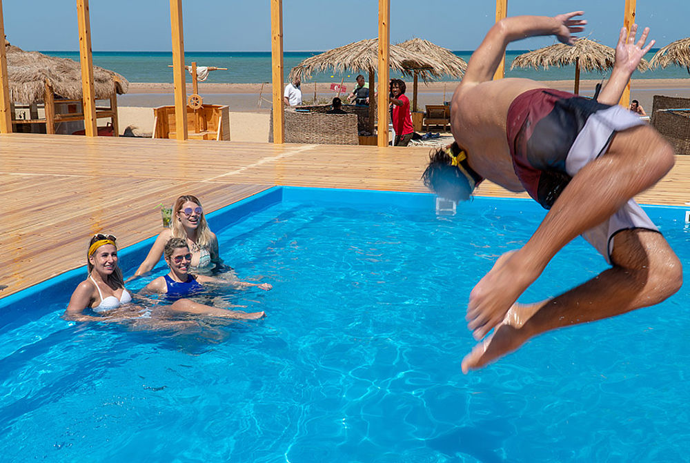 Swimming Pool at the kitesurf centre KBC EL Gouna