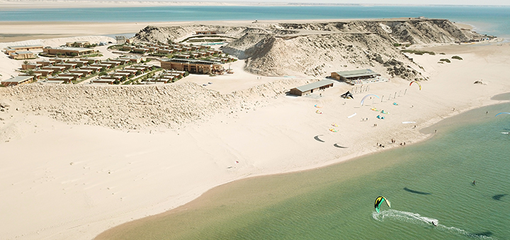 Kitestation in Dakhla an der kitesurf Lagune
