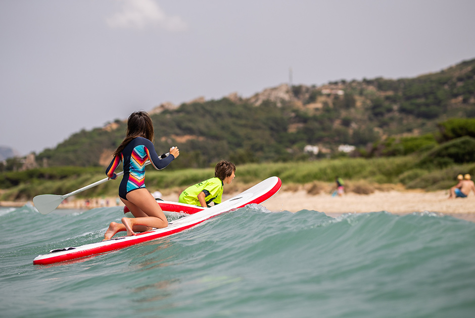 SUP at Kiteboarding Club Tarifa surf school