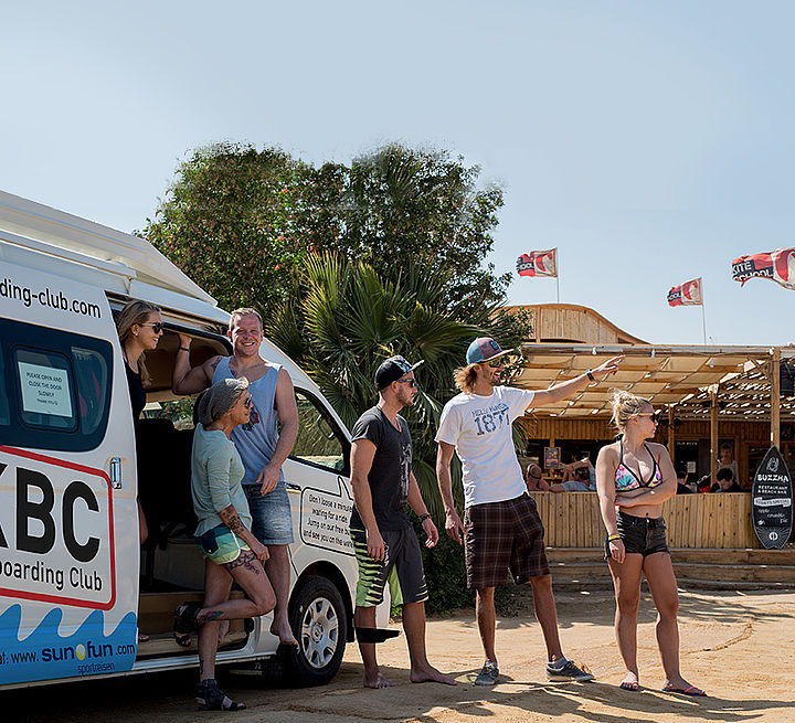 Shuttle Bus des Kiteboarding Club