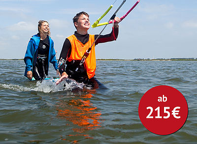 Kitesurf Anfängerkurs am KBC Hindeloopen in Holland am Ijsselmeer