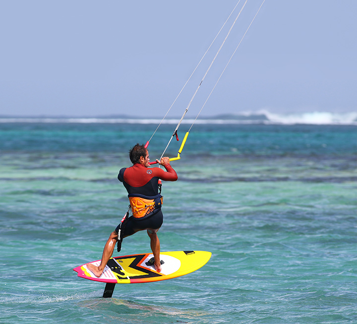 Foil kitesurfing at KBC